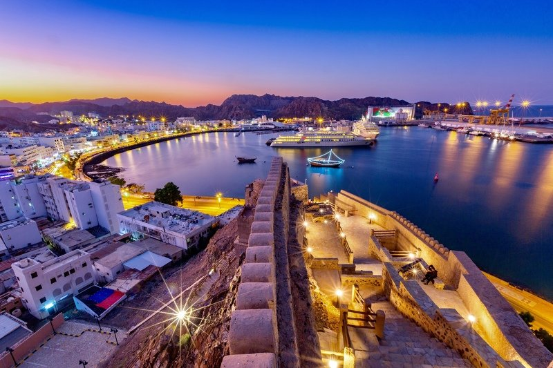 Corniche Oman Sunset Evening Colours Cityscape Muscat Outdoor  Muttrah Cornichephoto preview