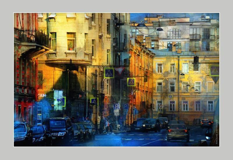 город вечернее солнце. Санкт-Петербург.photo preview