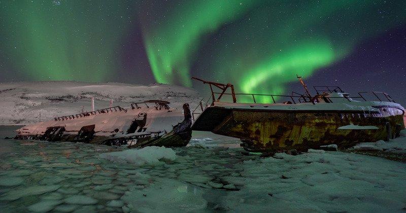 териберка, северное сияние photo preview