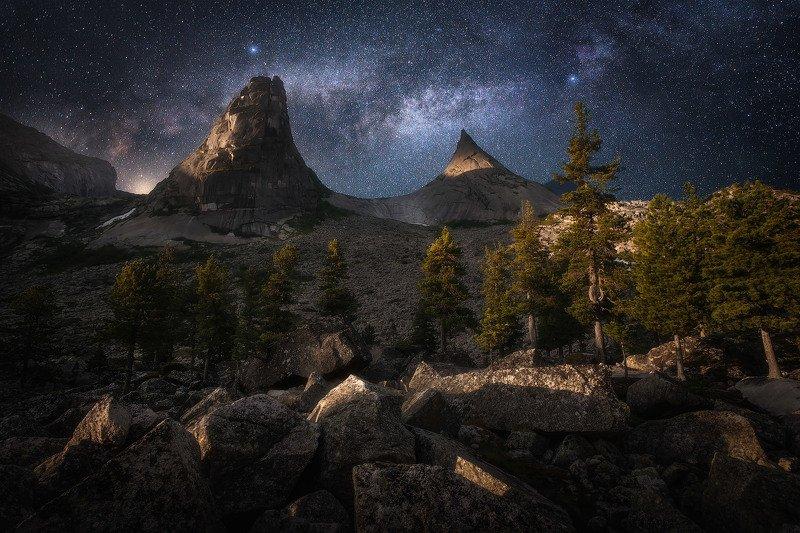 ергаки, горы, саны Ночь на Параболеphoto preview