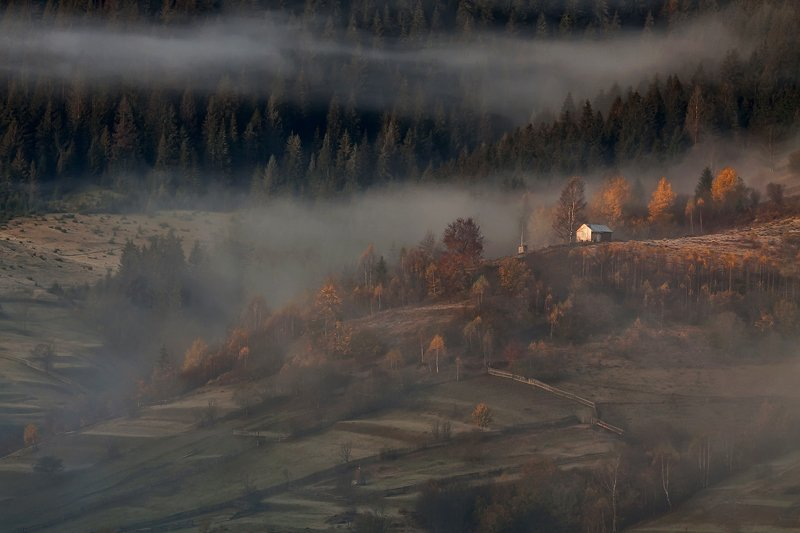 карпаты горы утро туман осень Осенняя история...photo preview