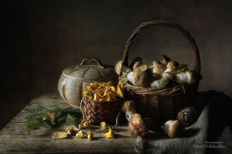 натюрморт, ретро, деревенский винтажный, художественная фотография, грибы, осень Натюрморт с грибамиphoto preview