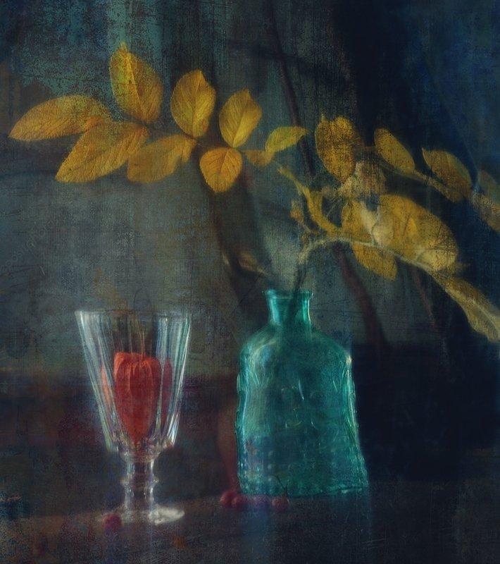 натюрморт,отражение,стекло,осень фантазии отражения...photo preview