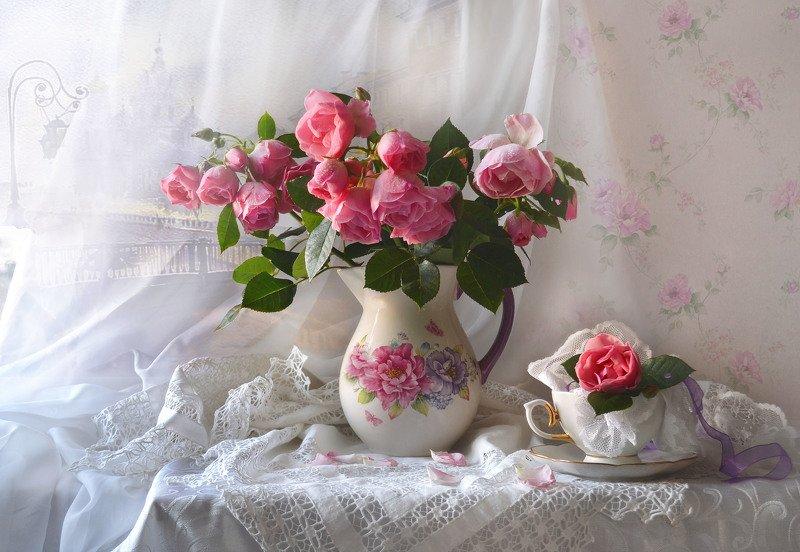 still life, натюрморт, фото натюрморт, осень, октябрь,цветы, розы, настроение, кружева ...казалась странной эта осень ...photo preview