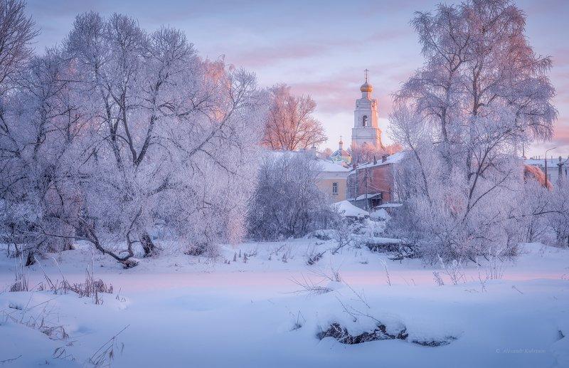 зима, утро, рассвет, пейзаж, вязьма Провинциальный январь...photo preview