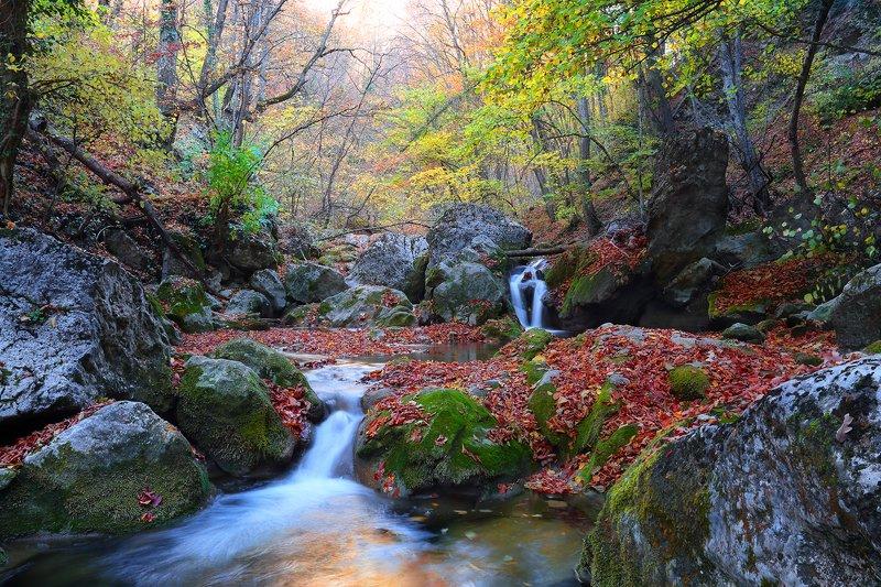 Осень  большом каньоне Крымаphoto preview