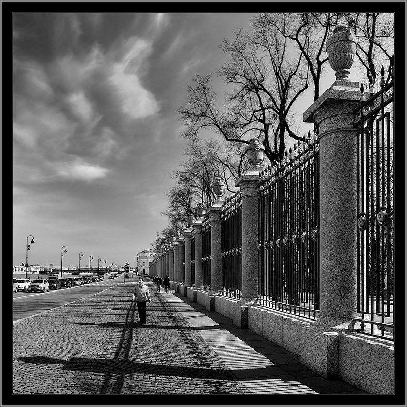 петербург, центр, летний сад, чб, квадрат Знакомый питерский сюжетphoto preview