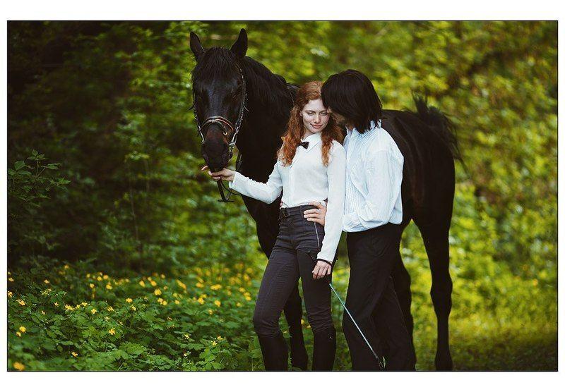модель, весна, 2013, лошадь, вечер Волшебные выходныеphoto preview