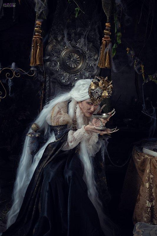 сказка, фентези, студия, арт, грим, декор, треш, портрет Ведьмаphoto preview