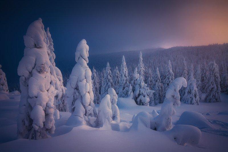 урал, таганай, горы В снежном безмолвииphoto preview