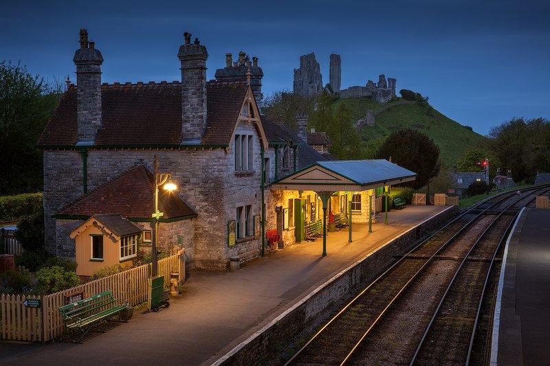 uk, england, dorset, corfe castle Corfe Castlephoto preview