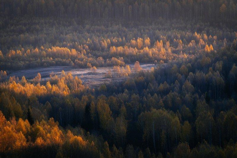 пермский край, осень, россия, урал, пейзаж, рассвет, утро Осенний рассветphoto preview