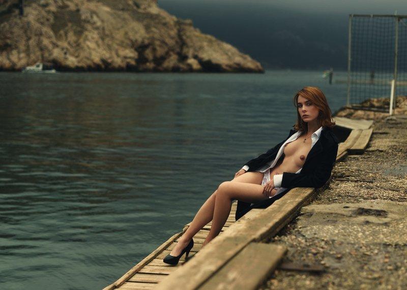 девушка, модель, ню Осень в Балаклаве.photo preview