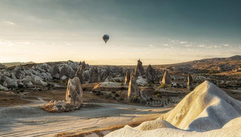 cappadocia, turkey, morning, moon-landing,каппадокия Cappadoclandphoto preview