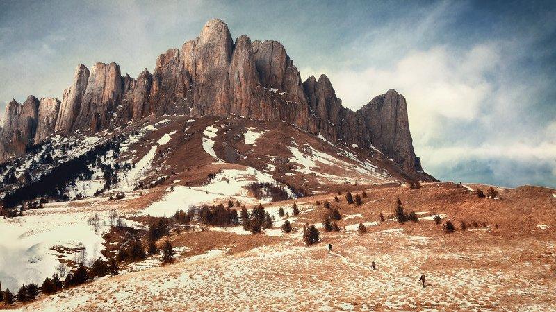 nikon, Адыгея, Россия, горы, зима, камни, мир, небо, поход, природа, скалы, цвета Большой Тхачphoto preview