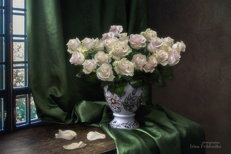 натюрморт, винтажный, интерьер, букет, розы,  Романтический букетphoto preview