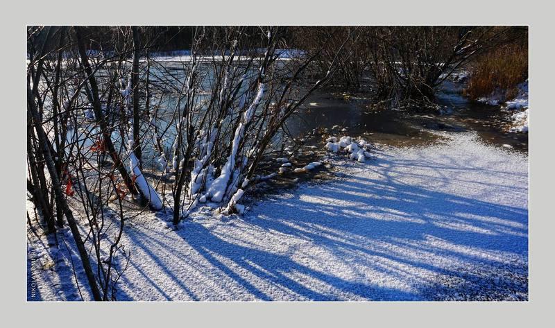 пейзаж первый лёд. озеро. 2020photo preview