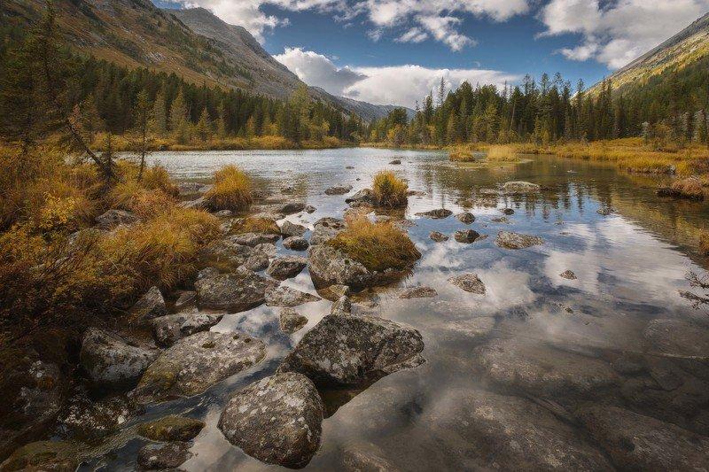 алтай, озеро, горы, лес, природа, закат, рассвет, красота, приключения, путешествие Отражениеphoto preview
