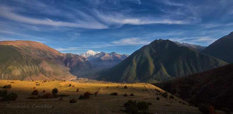 кавказ горы осень Горные просторыphoto preview