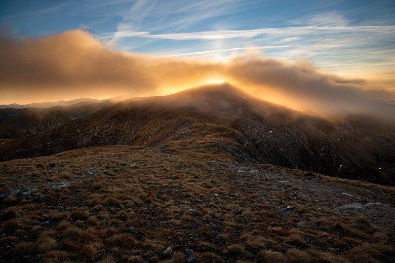 nature, autumn, landscape, colors, tatry, sunset Zachód słońca na Czerwonych Wierchach w Tatrachphoto preview