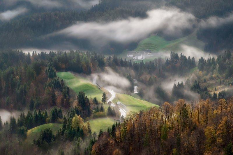 словения, slovenia, туманы словении, slovenia landscape, slovenia landscape photography Словенские мотивыphoto preview