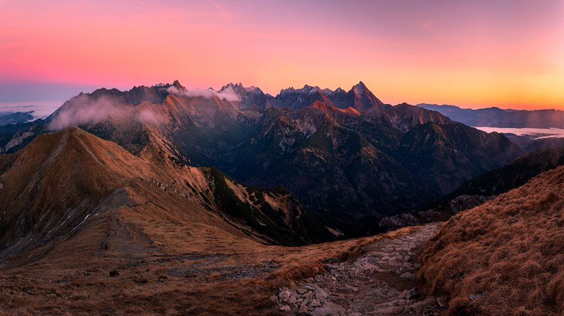 nature, autumn, landscape, colors, tatry, sunset, mountains Tatryphoto preview