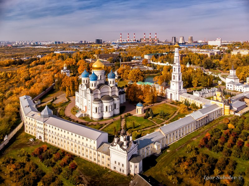 николо-угрешский монастырь, подмосковье, аэросъемка, осень Николо-Угрешский монастырь осеньюphoto preview