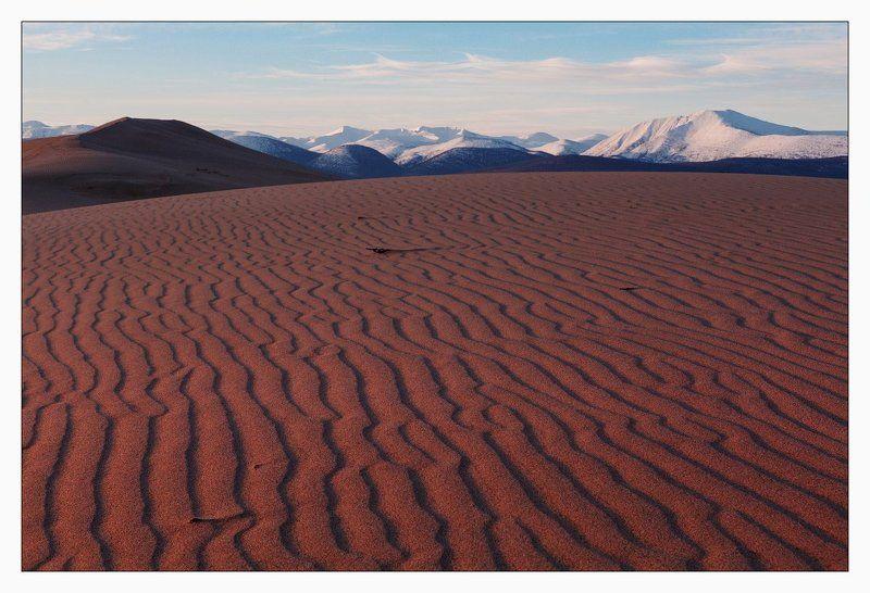 чарские, пески, удокан ПУСТЫННЫЙ РАССВЕТ И СНЕГА УДОКАНАphoto preview