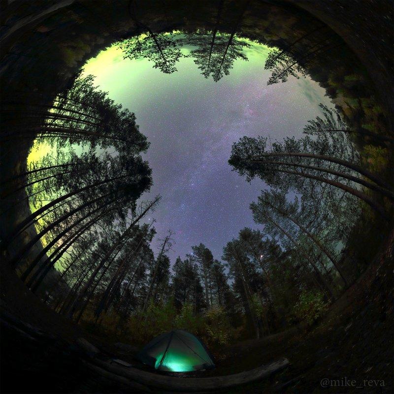 ночь звезды северное сияние ночной пейзаж астрофотография карелия Ночь на Поор-порогеphoto preview