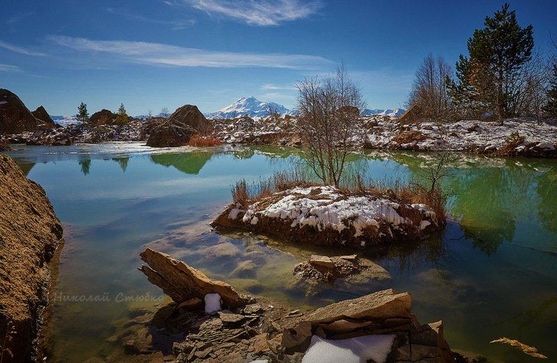 кавказ, горы, озеро Островокphoto preview