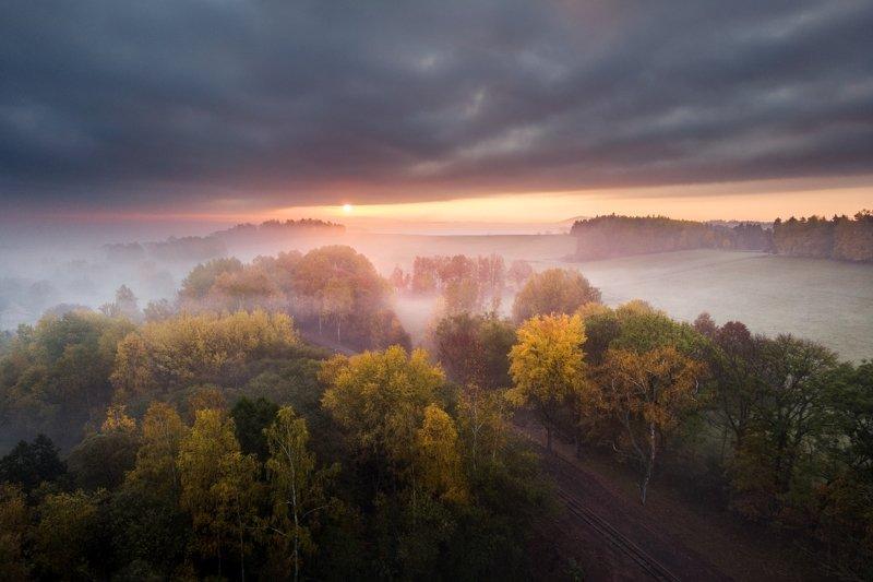 mavic air, drone, aerial, czechia, autumn, air photography Moody morning..photo preview