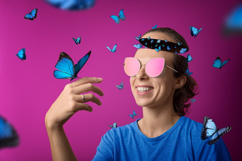#ideas #portrait #thoughts #butterfly #pinkglasses #concept Selfportrait. Thoughts.photo preview