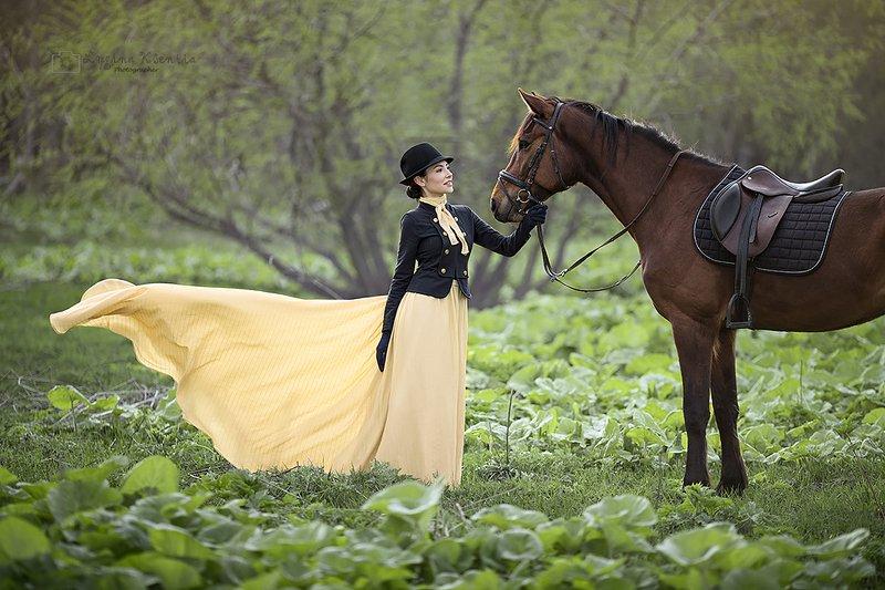 #lady #horse #girl #portrait #riding #retro Horse Ridingphoto preview