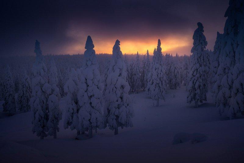 таганай, зима, урал В предрассветных сумеркахphoto preview