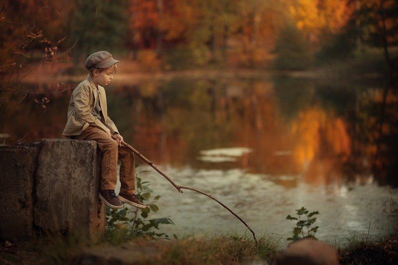 детская фотография, художественная фотография Осень у прудаphoto preview