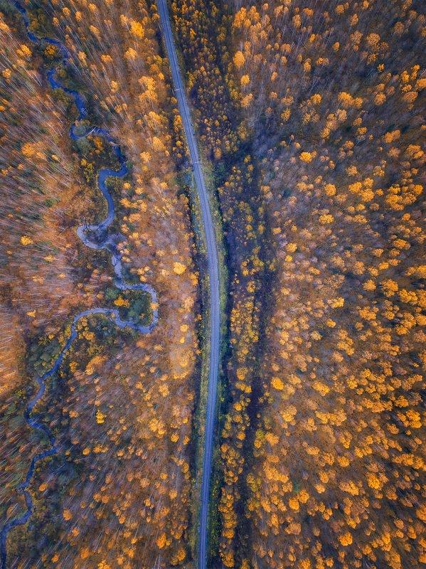 железная дорога, пермский край, осень, пейзаж, ржд, рассольная, россия, урал, графика, пейзаж, река Осенняя графикаphoto preview