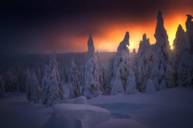 таганай, урал, зима, горы Встречая утроphoto preview