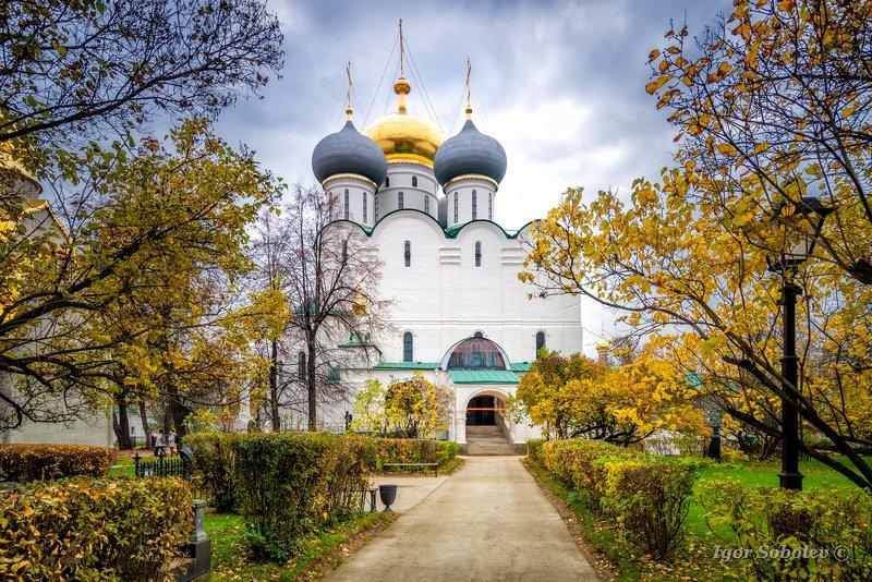 смоленский собор, новодевичий монастырь, москва, осень Смоленский соборphoto preview