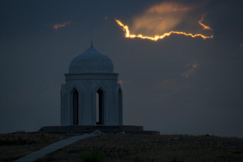 казахстан, капчагай, капчагайское водохранилище, рассвет, Рассветphoto preview