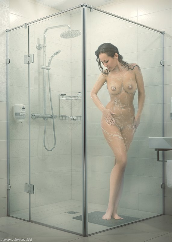 девушка,обнажённая,красота,эротика,душ,гигиена Душевая кабинкаphoto preview