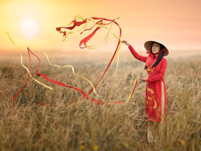 #dragon #ribbons #girl #vietnamic #east #fairytale Meeting the downphoto preview