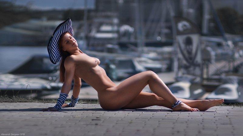 девушка,обнаженная,пиратка,стилизация,пленэр Пираты Финского заливаphoto preview