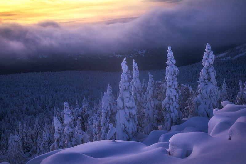 таганай, зима, урал, горы На высотеphoto preview