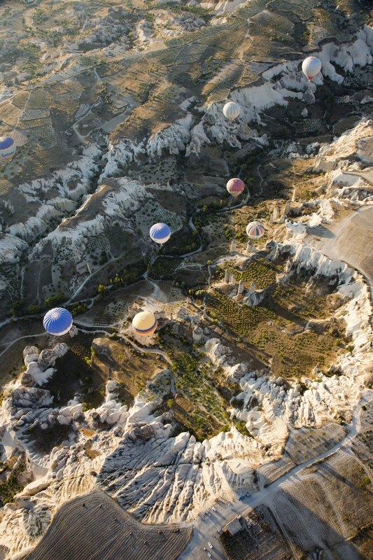 полёт, путешествие, шар,земля, рельеф,ландшафт,пейзаж,landscape,travel,fly,balloon,earth,cappadocia Полётphoto preview
