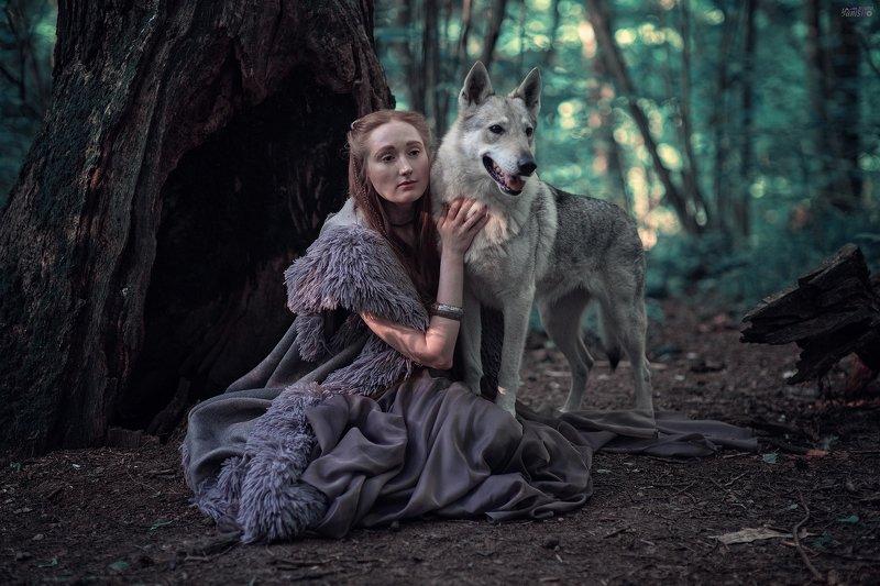 портрет, женщина, мужчина, животные, лес, история, исторические съемки photo preview