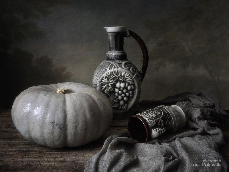 натюрморт, осень, тыква, художественное фото, овощи, винтажный Натюрморт с тыквойphoto preview