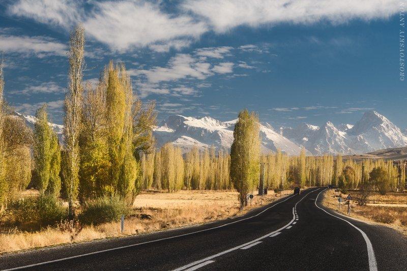 осень, горы, дорога, небо, фототур, деревья, triplaunch Осень в горахphoto preview