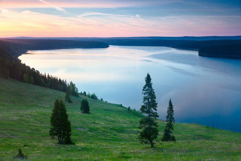 Рассвет на Михайловском водохранилищеphoto preview