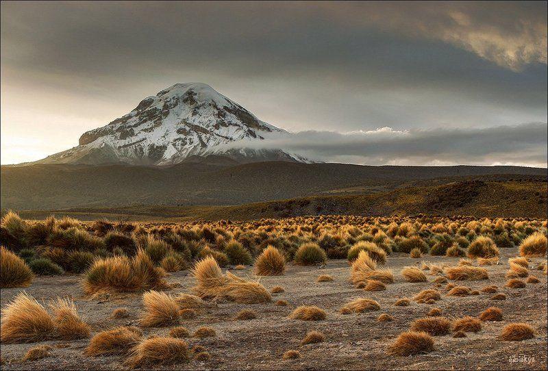 Боливия, Вулкан, Латинская америка, Панорама, Рассвет, Сахама Сахамаphoto preview