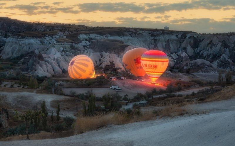 каппадокия,воздушные шары,утро,cappadocia Утро в Каппадокииphoto preview
